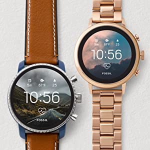 touchscreen smartwatch; touch screen watch; smart watch; touch screen; fossil q;