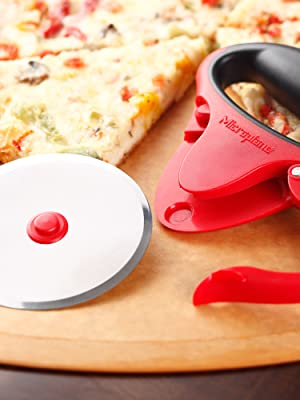 pizza wheel, pizza cutter, take apart for cleaning dishwasher safe