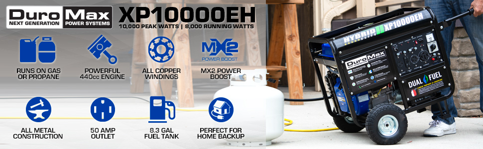 Duromax XP10000EH Portable Home Backup Outdoor Life Generator