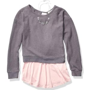 Speechless Girls Pullover Sweatshirt with Lace Hangdown