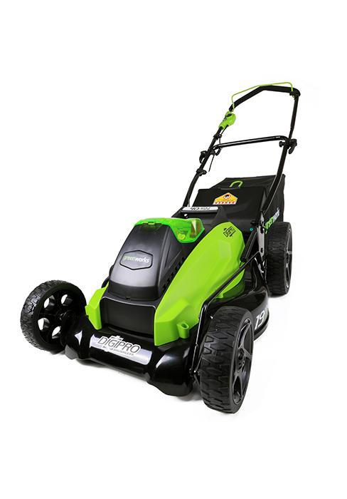 40V mower, Greenworks mower, cordless mower, lawn mower, 16 inch mower
