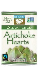 More Than Fair Quartered Artichoke Hearts, 14 Ounce Can