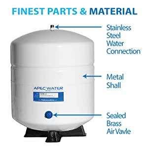 APEC Water Systems TANK-4 4 Gallon Residential Pre-Pressurized Reverse  Osmosis Water Storage Tank