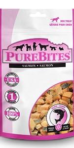salmon; purebites; dog; treats