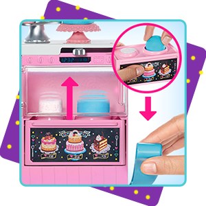 Buy Barbie Cake Decorating Playset With Doll Baking Island With Oven Molding Dough And Toy Icing Pieces Online At Low Prices In India Amazon In
