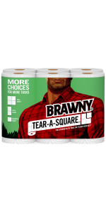 tear-a-square, paper towel, pick a size