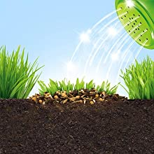 Miracle-Gro Patch Magic grass seed contains coir feed