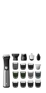 Philips 7000 MG7770/15 Grooming Kit Rifinitore Impermeabile in Acciaio, 18 in 1, Utilizzabile sotto la doccia, Barba, Capelli e Corpo,Custodia da viaggio