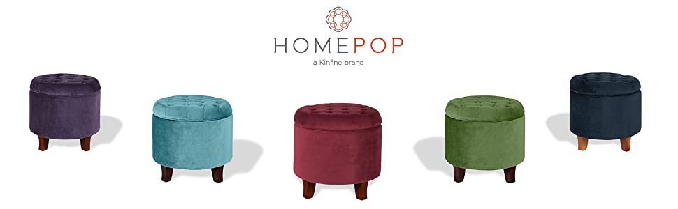 Remarkable Homepop Velvet Button Tufted Round Storage Ottoman With Removable Lid Burgundy Theyellowbook Wood Chair Design Ideas Theyellowbookinfo