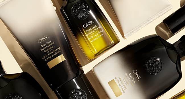Gold Lust repair & restore damaged hair oil lightweight repairing split ends