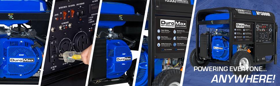Duromax XP13000E Home Support Durable Portable Generator