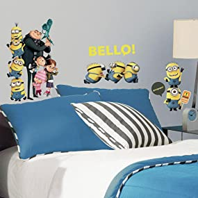 despicable me peel and stick wall decals, peel and stick wall decals