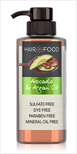 avocado, argan oil, hydrated, smooth hair, smoothening
