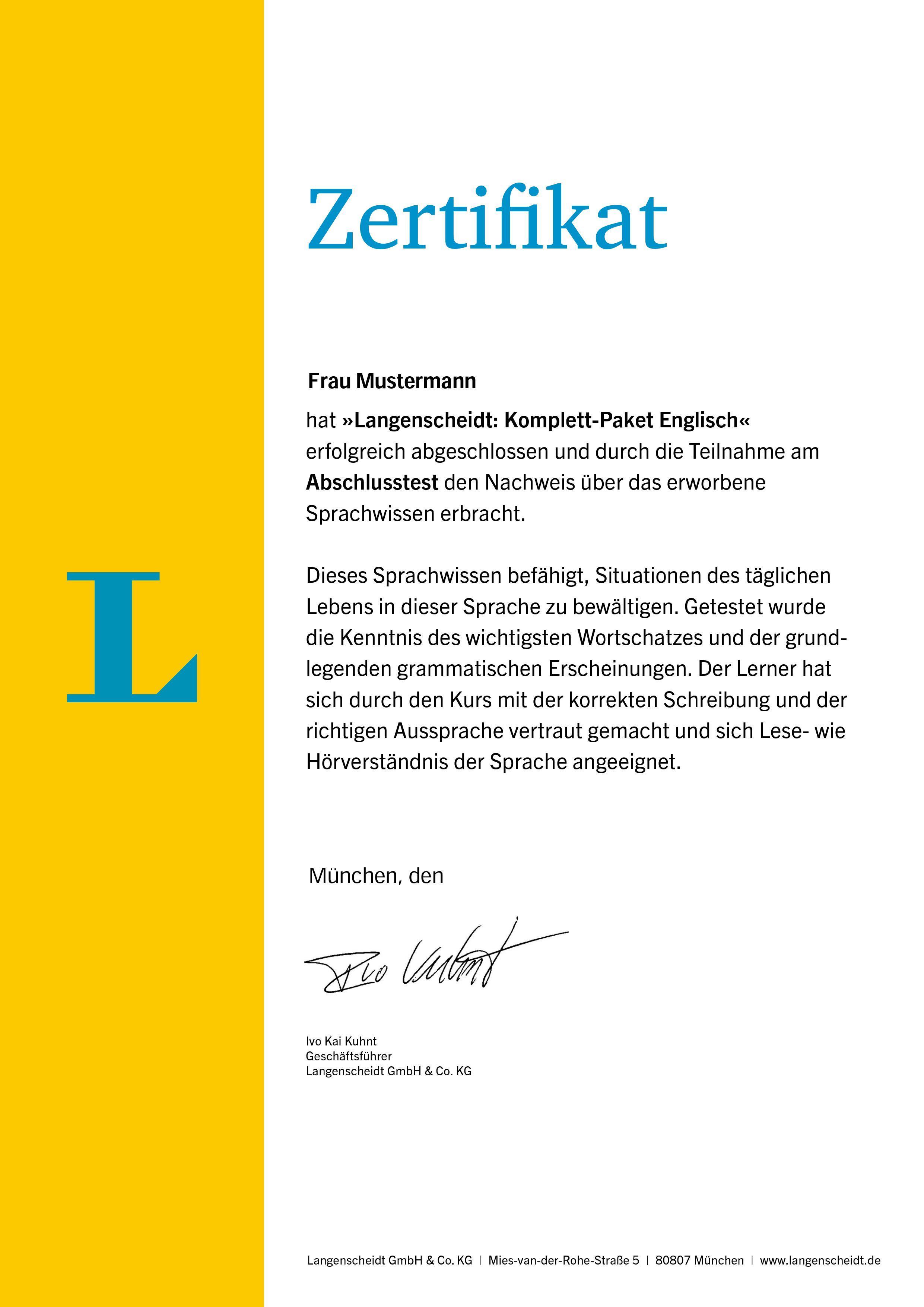 Langenscheidt Komplett-Paket Englisch - Sprachkurs mit 2 Büchern, 6 ...