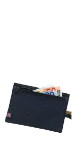 RFID Blocking Money Belt Travel Pouch + Credit Card, ID, Passport Holder for Women and Men