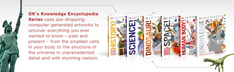 Kids encyclopedia learn about sports humans the body dinosaurs history science space books