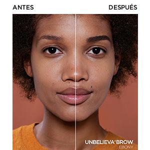 LOréal Paris Unbelieva Brow Gel De Cejas, Larga Duración, 109 Ebony - 3.4 ml