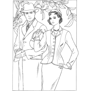 fashion adult coloring