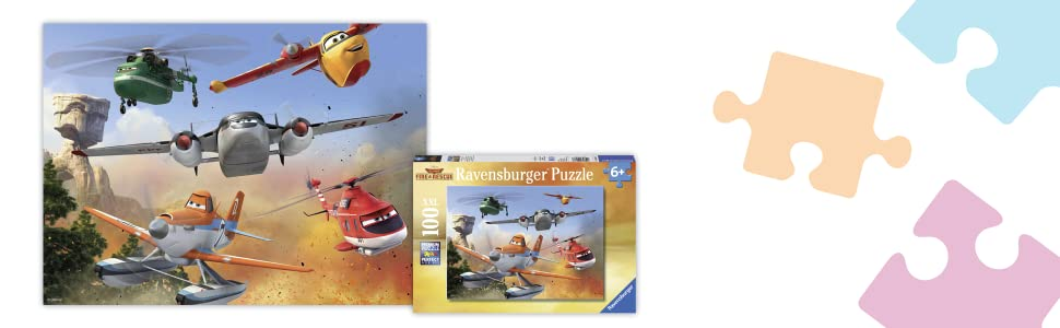 Amazon Com Ravensburger Disney Planes Fire Rescue Fighting The Fire 100 Piece Jigsaw Puzzle For Kids Every Piece Is Unique Pieces Fit Together Perfectly Toys Games