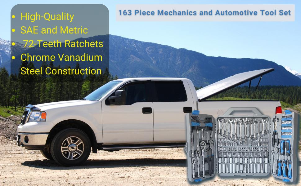 tool set for garage, mechanic tool kit, auto tool set
