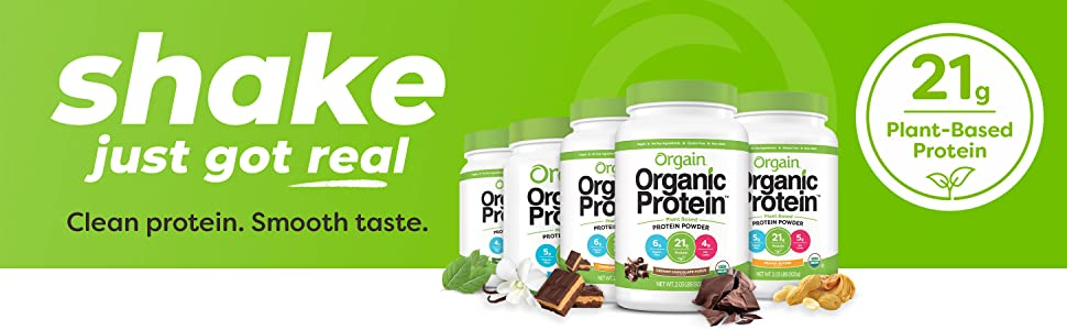 Orgain plant based protein powder