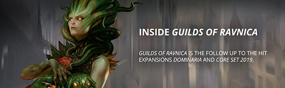Vraska Regal Gorgon Planeswalker Inside guilds of ravnica follows dominaria and core set 2019