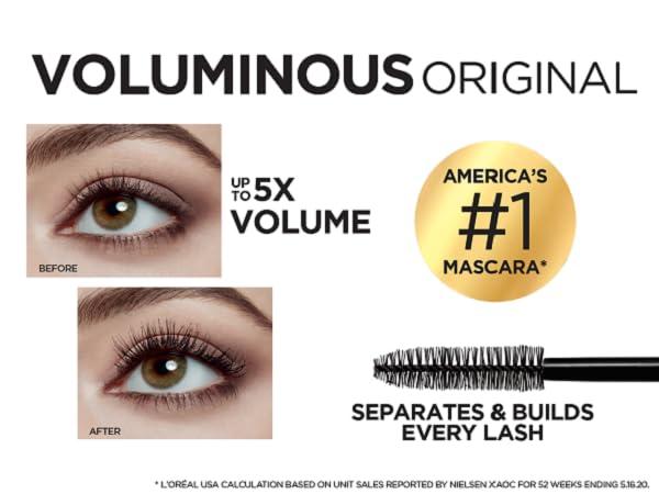 volumizing mascara, lengthening mascara, waterproof mascara, loreal paris voluminous mascara