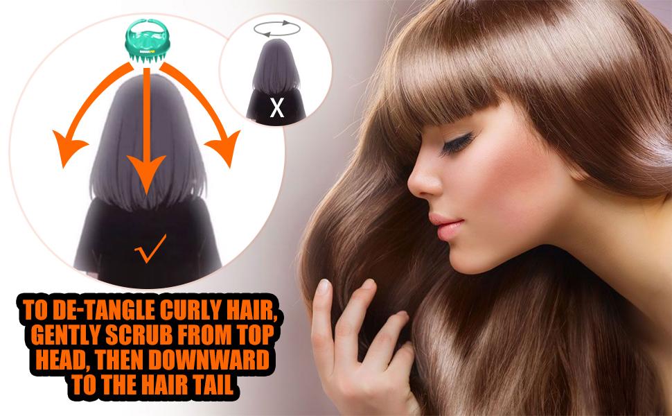 hair shampoo brush