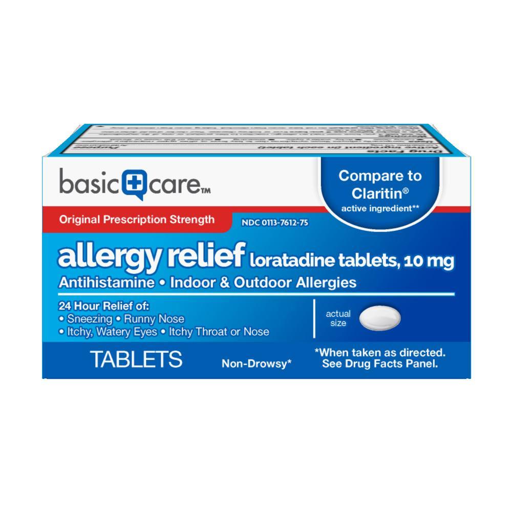 Amazon.com: Basic Care Allergy Relief Loratadine Tablets
