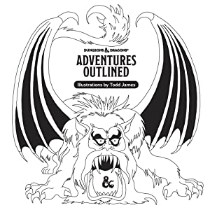 Todd James, D&D coloring book, manticore
