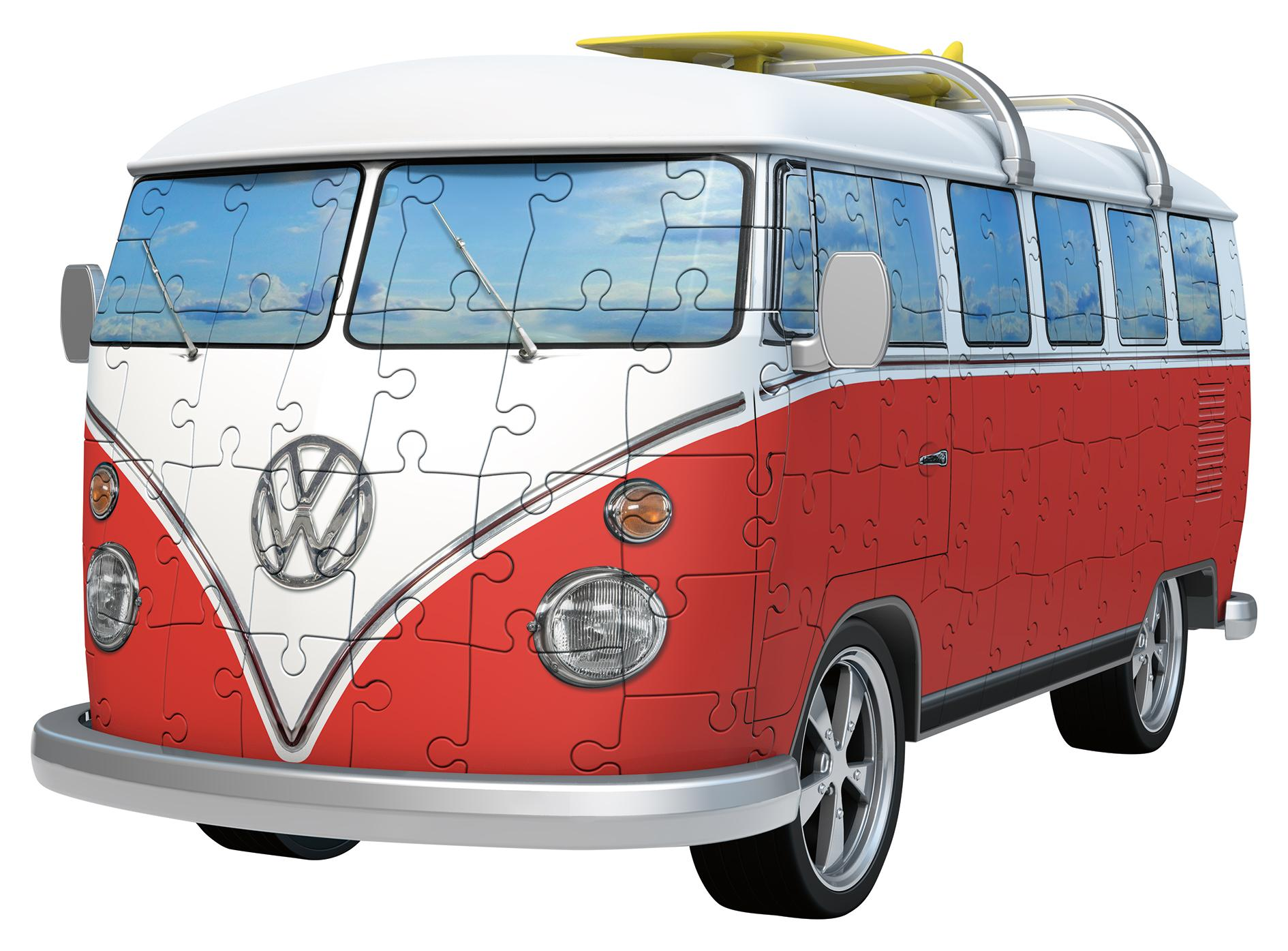 Vw Campervan Accessories >> Ravensburger VW T1 Camper Van, 162pc 3D Jigsaw Puzzle: Ravensburger: Amazon.co.uk: Toys & Games