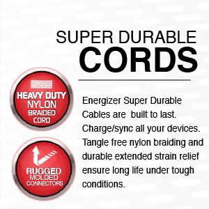 energizer chargers cables