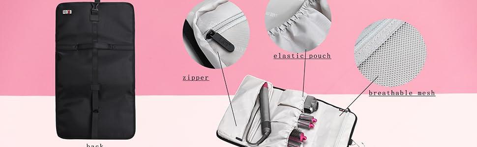 storage case bag for  Airwrap Styler  Portable Storage Organizer Bag  zippered mesh pocket