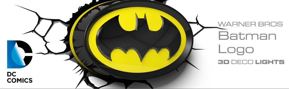 Amazon 3dlightfx warner bros dc comics batman emblem logo 3d dc comics warner bros batman 3d deco light nightlight led bulbs aloadofball Images