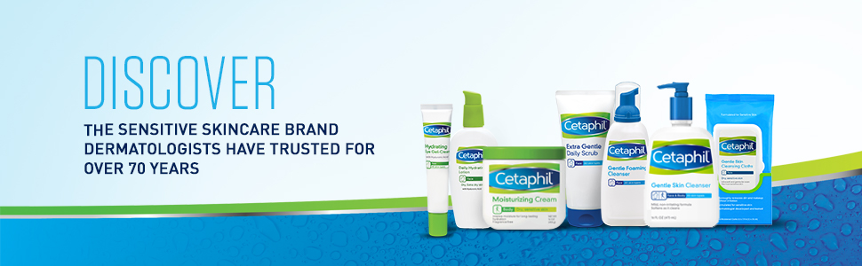 Cetaphil Gentle Skin Care Dermatologist Recommended Facial Cleansers and Moisturizers