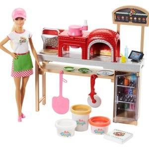 Amazon.es: Barbie Quiero Ser pizza chef, muñeca y accesorios ...