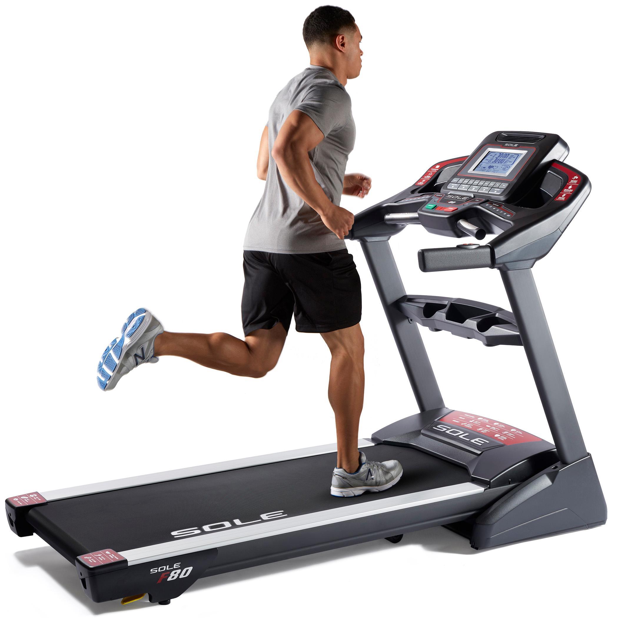 Fitness Equipment Maintenance Near Me: SOLE Fitness F80 Folding Treadmill Machine, 3.5 CHP Motor
