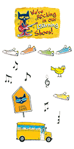 Pete The Cat We're Rocking in Our Learning Shoes Bulletin Board