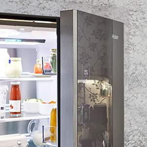 HB18FGSAAA, Haier Kühlschrank, Glas, Glas-Design