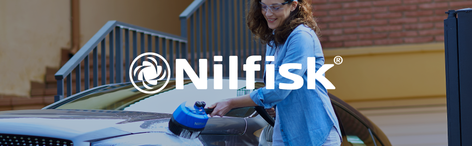 Nilfisk, high pressure washer, cleaning, outdoor