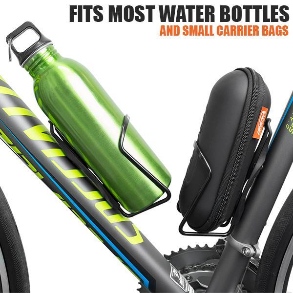 BV 2x Bike Bottle Cage Cycling Aluminum Lightweight Holder NEW BV-BC91-BK-Pair