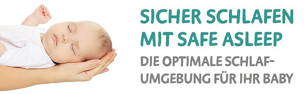 Safe Asleep Von Roba Babybettmatratze Air Balance Easy 60x120 Cm Mit Atmungsaktivem 3d Material Für Ein Optimales Schlafklima Mehrfach Gelocht Babybettmatratze Kinderbettmatratze Amazon De Baby