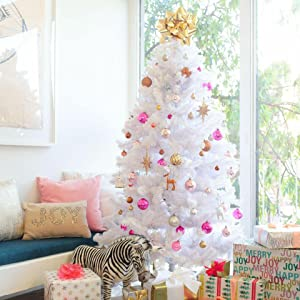 pretty nice 521dc f46b5 Perfect Holiday Christmas Tree, 6-Feet, PVC Crystal White