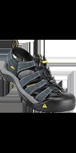 Men's sandals closed-toe leather water beach casual hiking flip flops slide