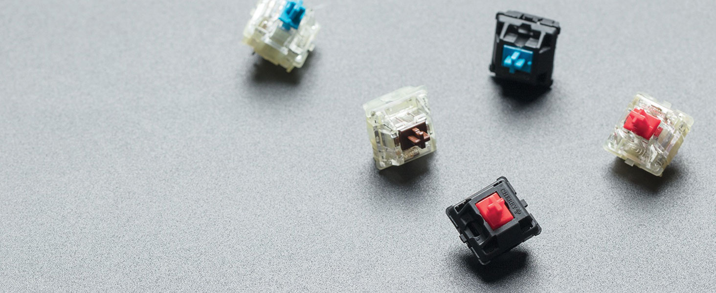 CHERRY MX mechanical keyswitches for proven reliability