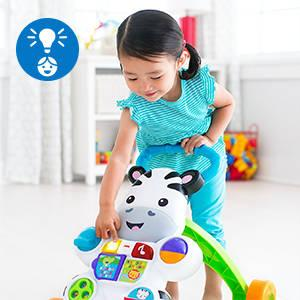 Con due modi di giocare, la Zebra cresce insieme al bambino dal gioco da seduti