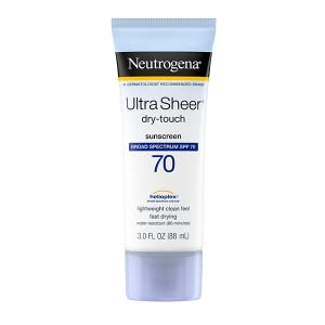 Neutrogena Ultra Sheer Dry-Touch Face and Body Sunscreen Lotion with Broad Spectrum SPF 70