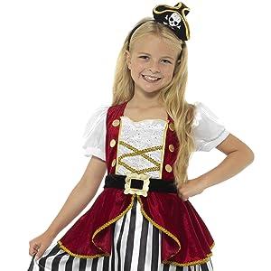Smiffys Disfraz de chica de calavera de pirata y huesos cruzados ...