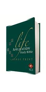 Large Print LASB Life Application Study Bible NLT New Living Translation understandable Hardcover