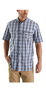 mens shirts, plaid, short sleeve, work, workwear